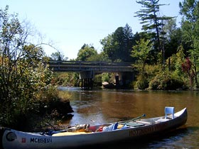 Canoeing on the Manistee River